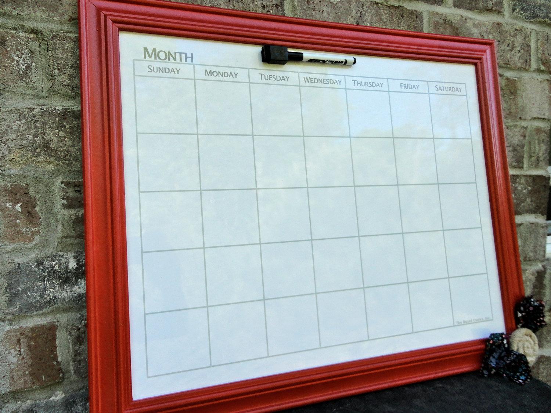 Magnificent Framed Whiteboard Calendar Sketch - Framed Art Ideas ...