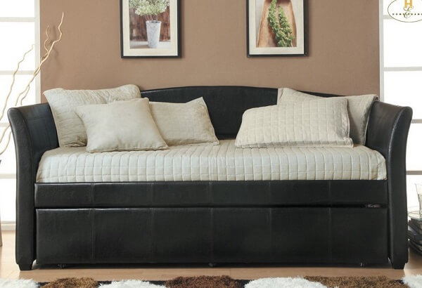 Homelegance Meyer Bi-Cast Vinyl Daybed with Trundle