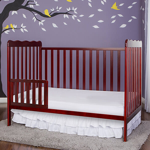 Dream On Me, Classic 3 in 1 Convertible Crib, Cherry