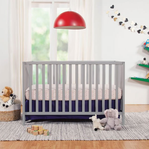 Union 3-in-1 Convertible Crib, Grey Finish