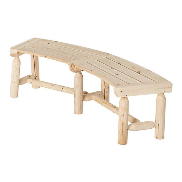 Stonegate Designs Fir Wood Log Curved Bench