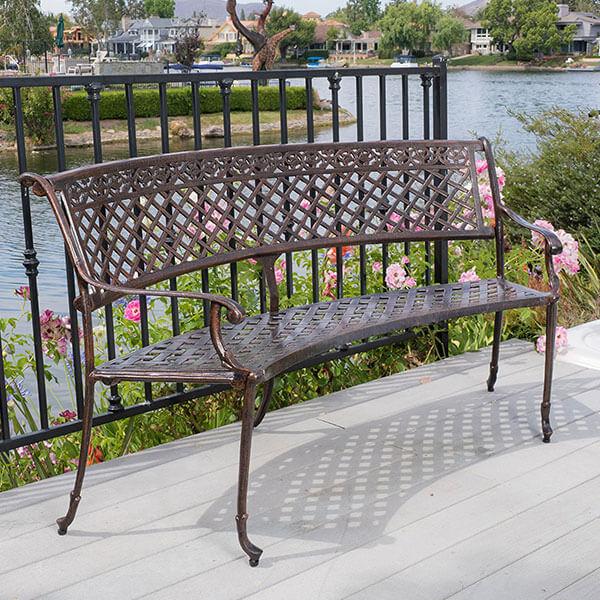 Bainbridge Outdoor Copper Bench