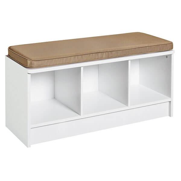 ClosetMaid Cubeicals 3-Cube Storage Bench, White