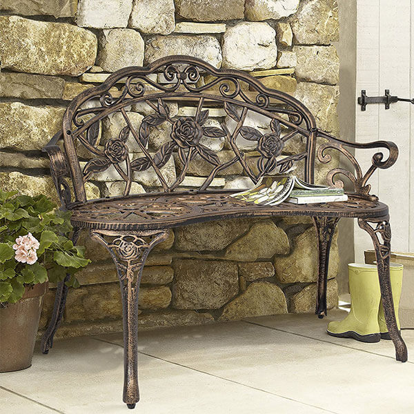 Best Choice Products Cast Iron Garden Bench