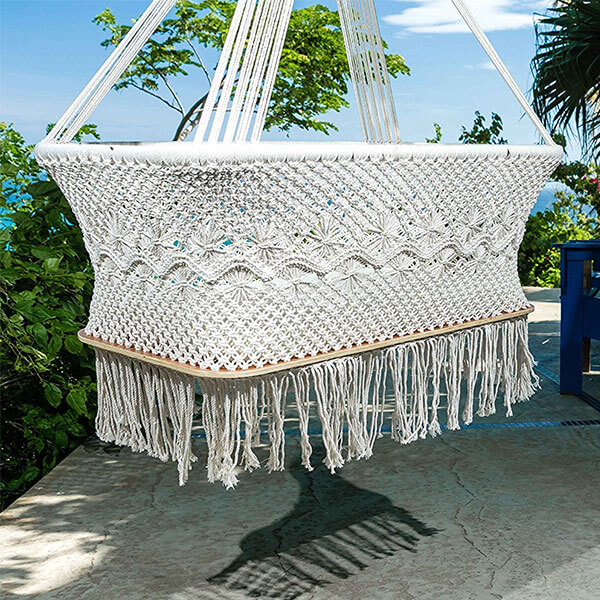 Handmade Hanging Bassinet, 100% Manila Cotton