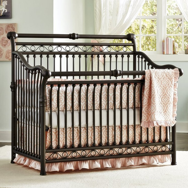 Baby's Dream Cirque Convertible Metal Crib