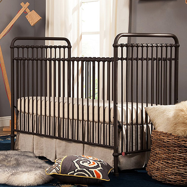Franklin & Ben Abigail 3-in-1 Convertible Crib, Vintage Iron