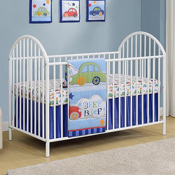 Cosco Applegate Metal Crib, White