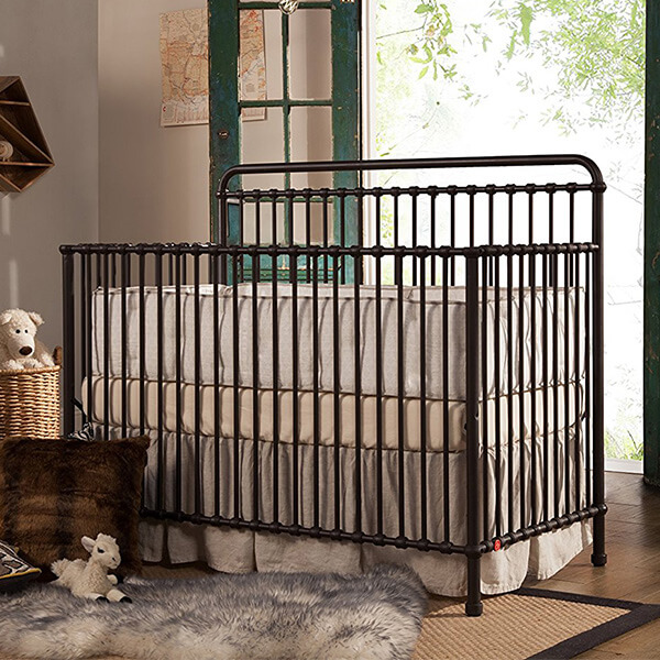 Franklin & Ben Winston 4-in-1 Convertible Crib, Vintage Iron