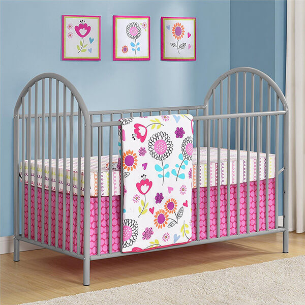 Cosco Altra Prism Soft Grey Metal Crib