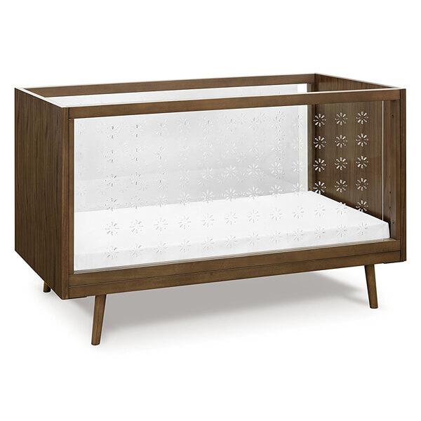 Ubabub Nifty Clear 3-in-1 Crib, Walnut