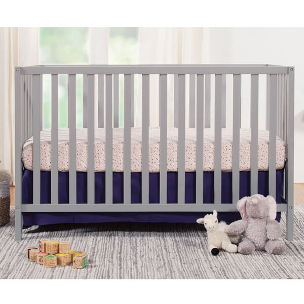 Union 3-in-1 Convertible Crib, Grey Finish