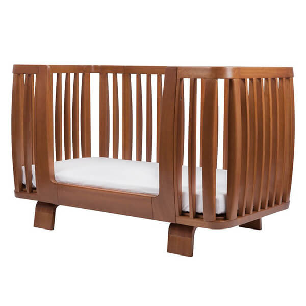 Bloom Retro Crib Bedrail, Oak