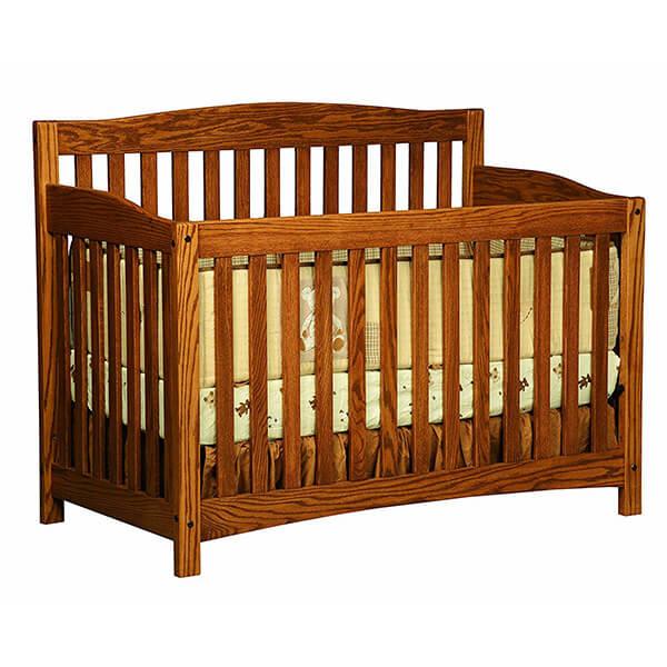 Amish Heirlooms Solid Oak Monterey Crib