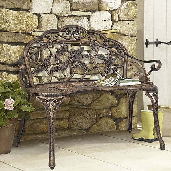 Best Choice Products Bronze Rose Outdoor Bench