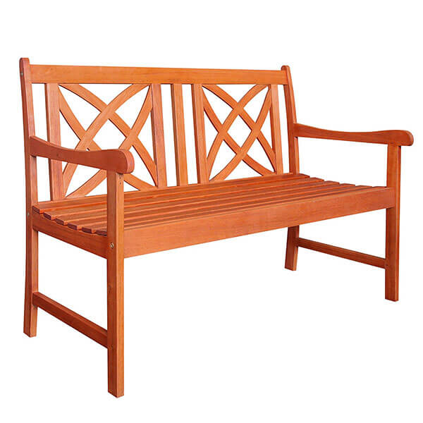 Vifah Outdoor Wooden Garden Bench