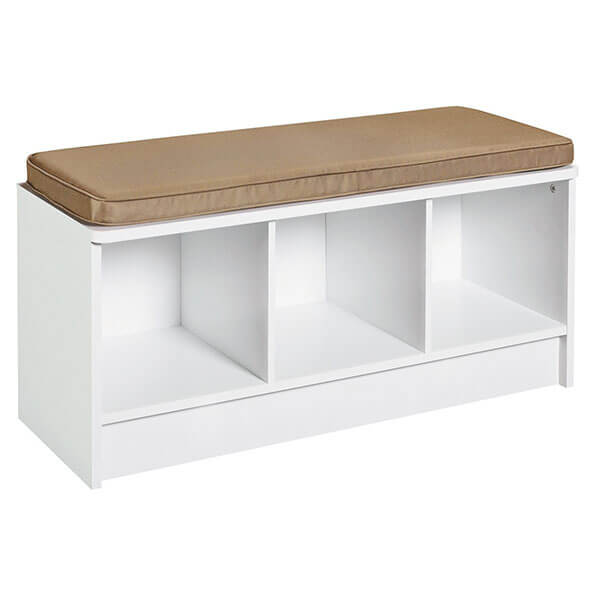 ClosetMaid Cubeicals 3-Cube Storage Bench, White