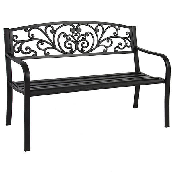 Best Choice Products Steel Patio Bench
