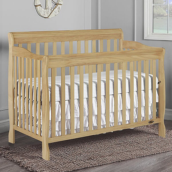 Dream On Me Ashton 5 in 1 Convertible Crib, Natural