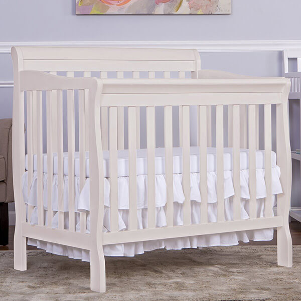 Dream On Me Aden Convertible 4-in-1 Mini Crib, French White