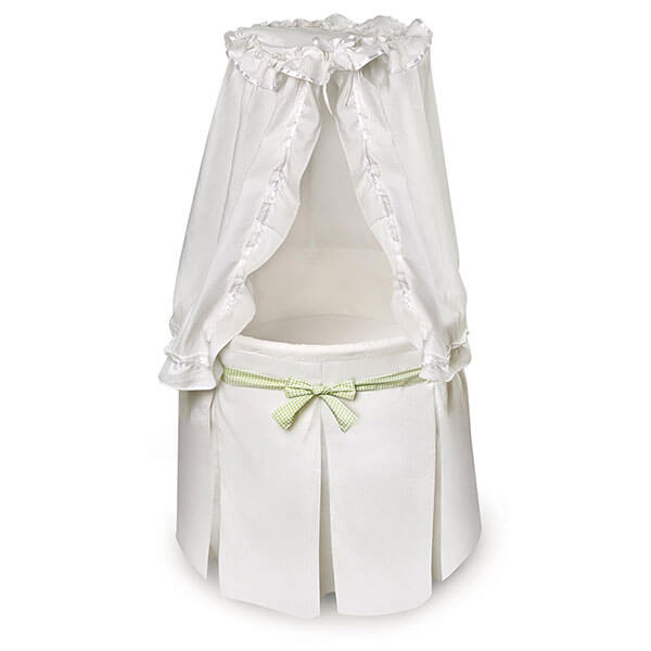 Badger Basket Company Empress Round Baby Bassinet