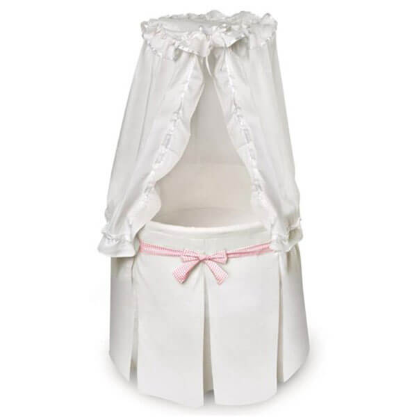 White Empress Round Baby Bassinet