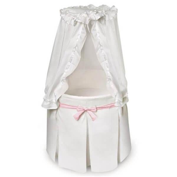 White Empress Round Baby Bassinet