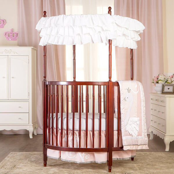 Dream On Me Sophia Posh Circular Crib, Cherry
