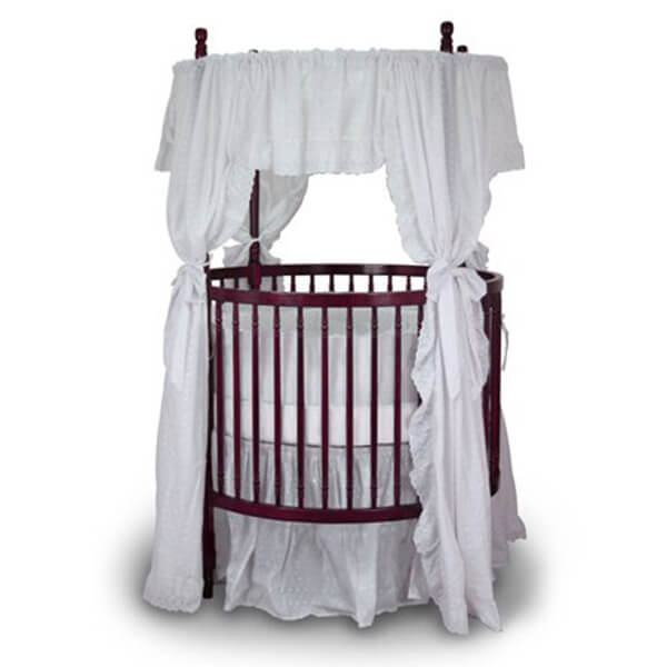 Angel Line Traditional Round Crib, Cherry