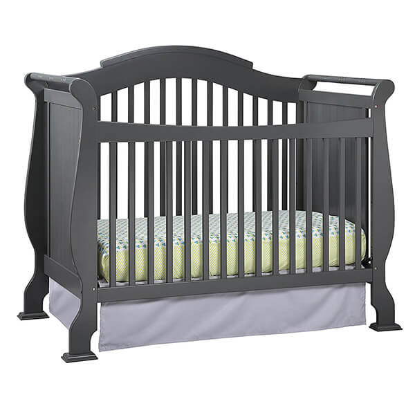 Stork Craft Valentia Convertible Crib, Gray