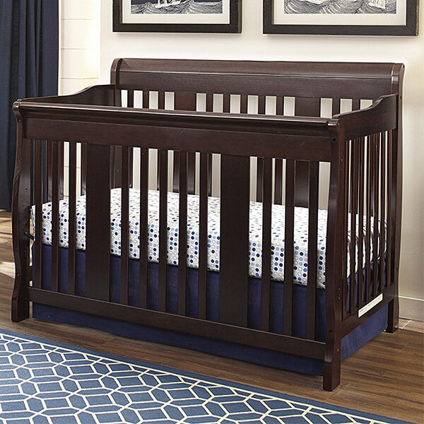 Stork Craft Tuscany 4-in-1 Convertible Crib, Espresso