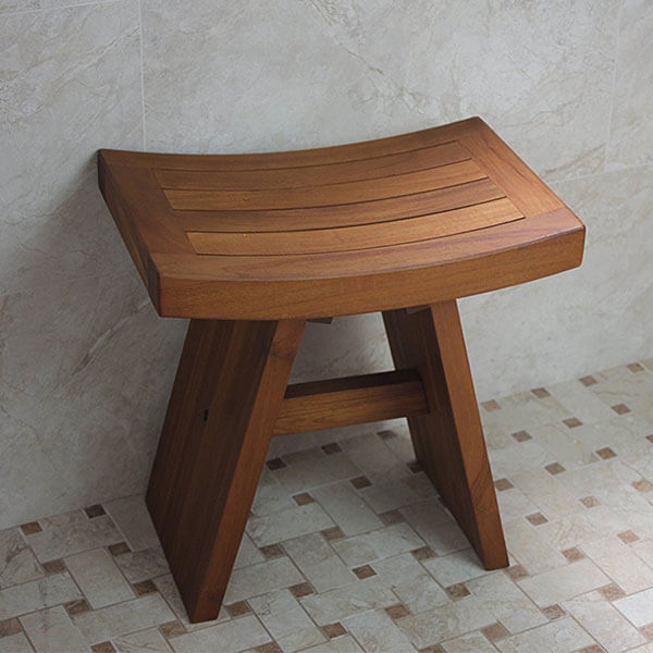 The Original Asia 18-inch Teak Shower Bench