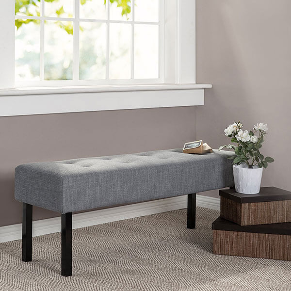 Zinus Memory Foam Upholstered Bench