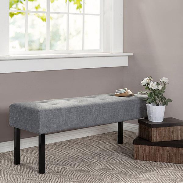 Zinus Memory Foam Upholstered Bench