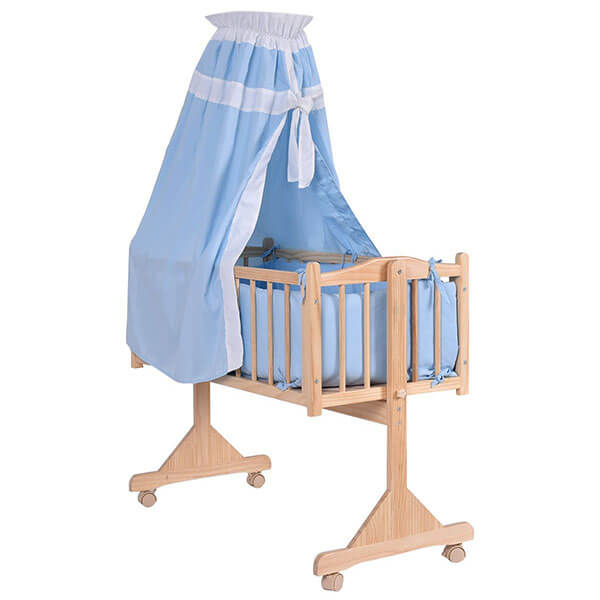 Costzon Wooden Rocking Bassinet