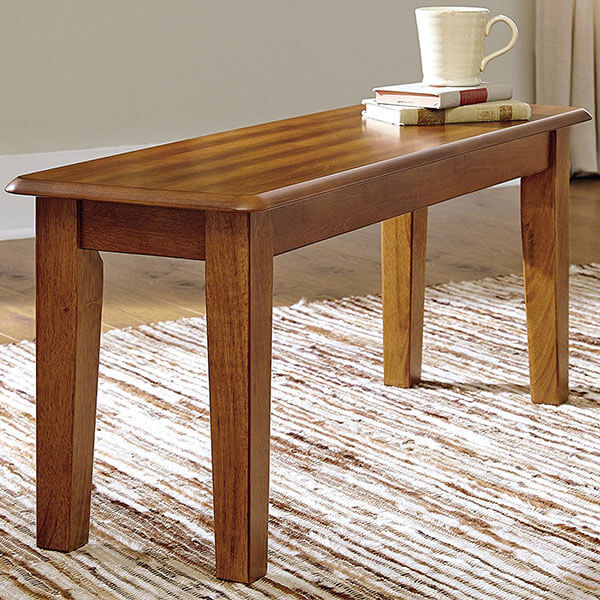 Ashley Furniture Signature Design Dining Bench, Rustic Brown Finish