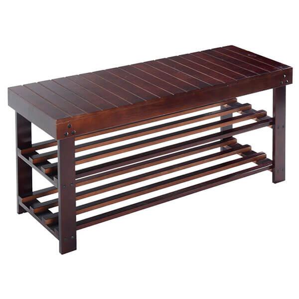 Giantex 36-inch Solid Wood Shoe Bench