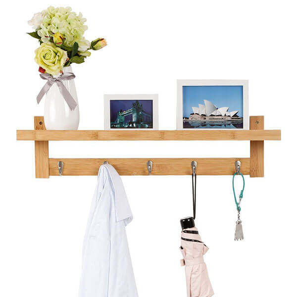 LANGRIA Wall-Mounted Bamboo Coat Rack