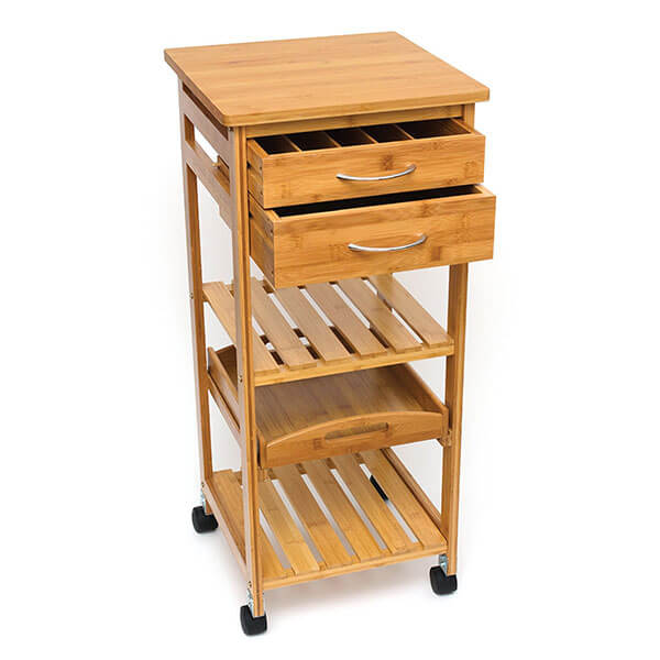 Lipper International Bamboo Space Saving Cart