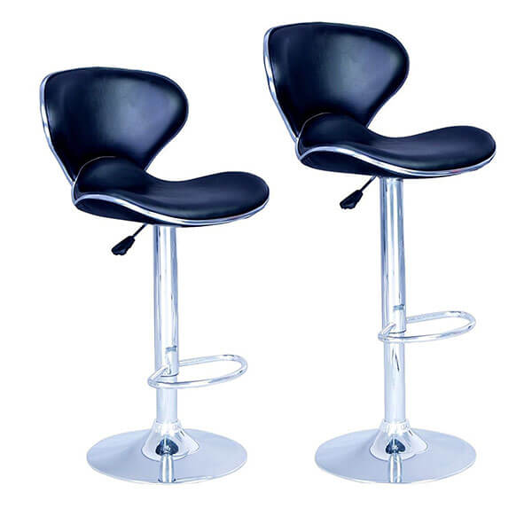 BestOffice Adjustable Synthetic Leather Swivel Bar Stools (Set of 2)