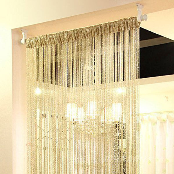 Eyotool Beaded Door Curtain, Champagne