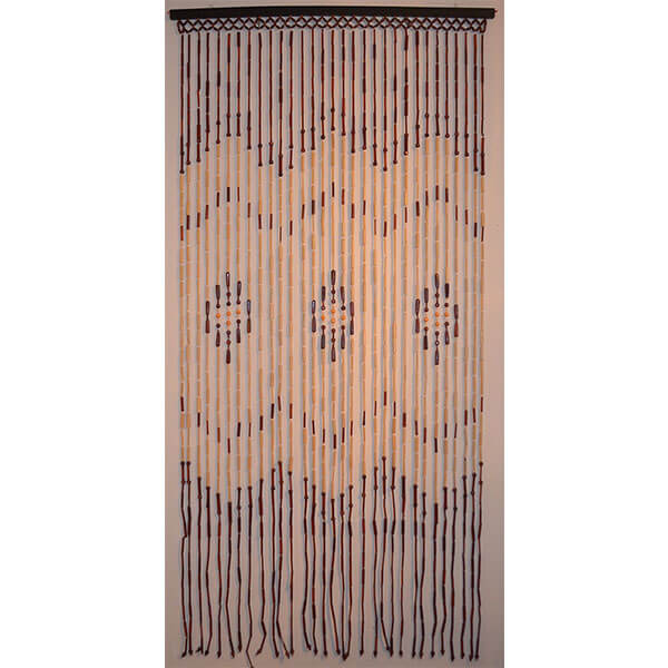 Natural Bamboo & Wood Beaded Curtain
