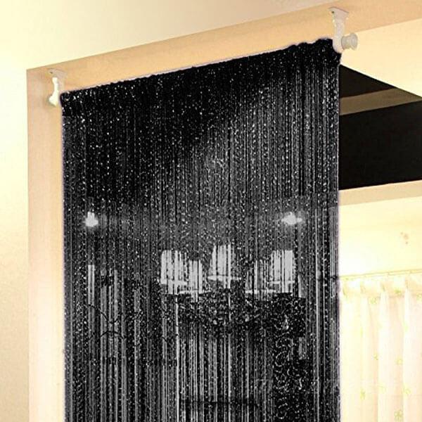 Topix Black Beaded Door Curtain