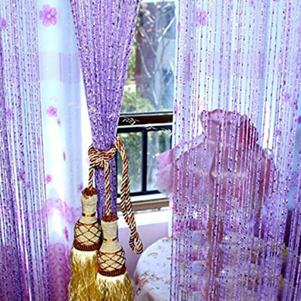 Eve Split Decorative Door Curtain, Purple