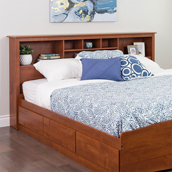 Prepac Monterey Cherry King Storage Headboard