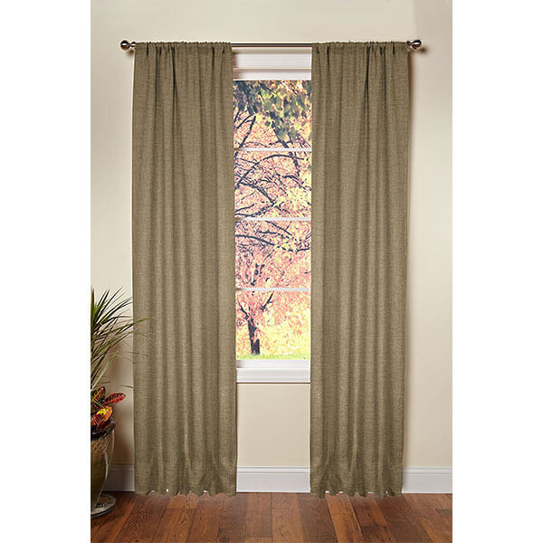 Cotton Craft Jute Burlap Window Curtains