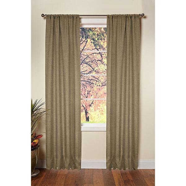 Cotton Craft Jute Burlap Window Curtains