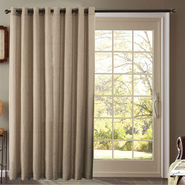 Furniture Fresh Burlap Look Faux Linen Curtains