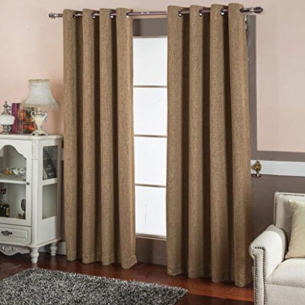 Best Dreamcity Faux Linen Blackout Curtains