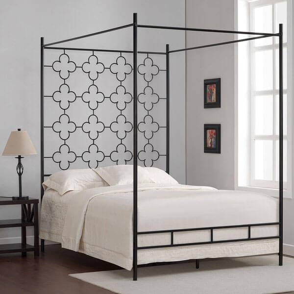 Quatrafoil Metal Canopy Bed Frame
